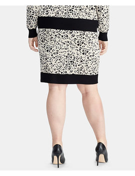 Trendy Plus Size Printed Sweater Skirt by Rachel Rachel Roy