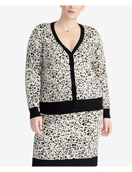 Trendy Plus Size Printed Cardigan by Rachel Rachel Roy