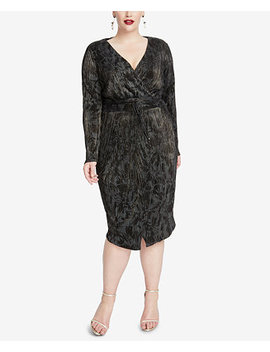 Plus Size Crinkle Pleated Wrap Dress by Rachel Rachel Roy