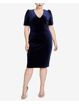 Plus Size Velvet Cutout Sheath Dress by Rachel Rachel Roy