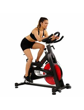 Sunny Health & Fitness Evolution Pro Magnetic Belt Drive Indoor Cycling Bike, High Weight Capacity, Heavy Duty Flywheel   Sf B1714 by Sunny Health & Fitness