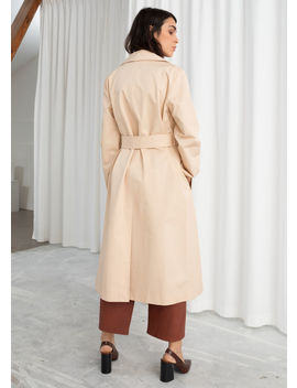 Belted Cotton Twill Trenchcoat by & Other Stories