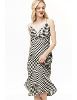 Gingham Midi Dress by Forever 21