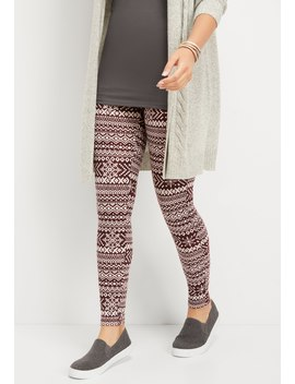 Snowflake Print Hacci Legging by Maurices