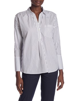 Selinde Long Sleeve Stripe Blouse by Joie