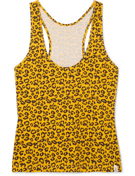 Leopard Print Stretch Cotton Jersey Tank by Les Girls Les Boys