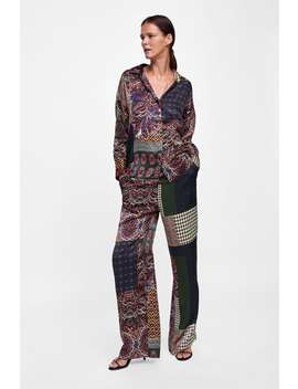 Patchwork Printed Pants  Bottomsstarting From 50 Percents Off Woman Sale by Zara