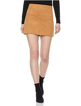 Painted Heart Women's Patchwork Faux Suede Mini Skirt by Painted Heart