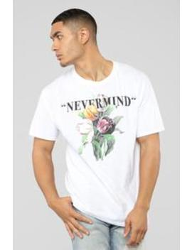 Nevermind Short Sleeve Tee   White/Combo by Fashion Nova