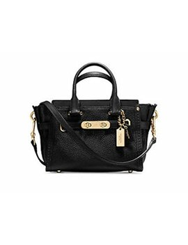 Coach Women's Pebbled Leather Coach Swagger 20 Li/Black Satchel by Coach