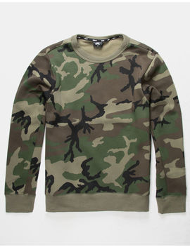 Nike Sb Icon Erdl Camo Green Mens Sweatshirt by Nike Sb