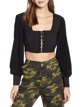 Cheri Front Closure Crop Top by Tiger Mist