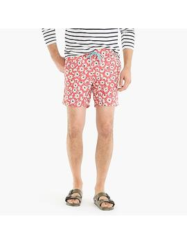 "6"" Swim Trunk In Pink Floral by J.Crew"