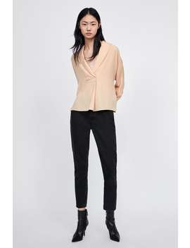 Shirt With Front Pleats  Topsstarting From 50 Percents Off Woman Sale by Zara