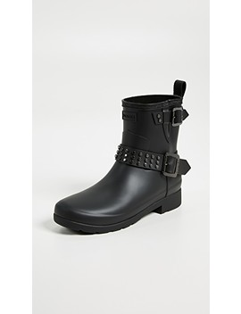 Refined Stud Biker Boots by Hunter Boots