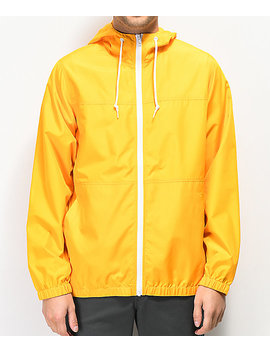 Zine Marathon Gold Windbreaker Jacket by Zine