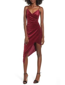 Velvet Surplice Dress by Love, Nickie Lew