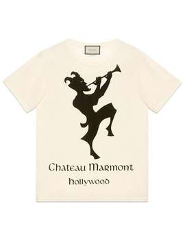 Camiseta Oversized Com Estampa Chateau Marmont by Gucci