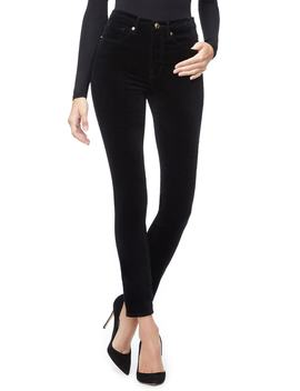 Good Legs Velvet High Waist Ankle Skinny Jeans by Good American