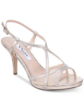 Blossom Strappy Embellished Evening Sandals by Nina