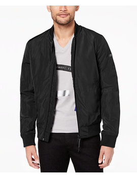 Men's Padded Full Zip Bomber Jacket by A|X Armani Exchange