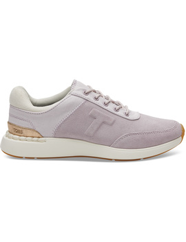 Burnished Lilac Suede And Canvas Women's Arroyo Sneakers by Toms