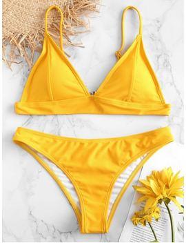Zaful Padding Bikini Set   Rubber Ducky Yellow M by Zaful