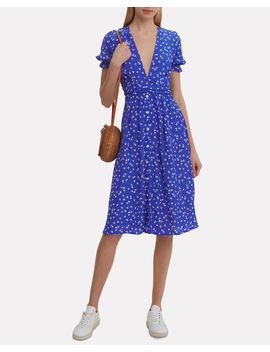 Farah Betina Print Cobalt Dress by Faithfull The Brand