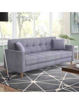 Ebern Designs Wooler Modern Linen Fabric Tufted Small Space Sofa & Reviews by Ebern Designs