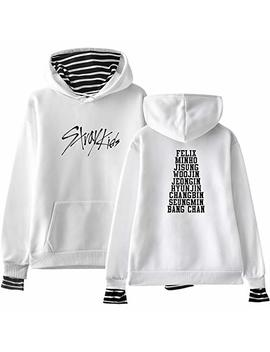 Jung Kook Kpop Stray Kids False Two Piece Hoodie Woojin Felix Hyunjin Sweater by Jung Kook