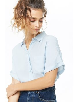 Boxy Crepe Shirt by Forever 21