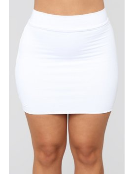 Melanie Mini Skirt   White by Fashion Nova