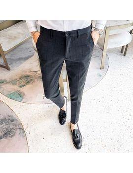 Deepwood   Plaid Slim Fit Dress Pants by Deepwood