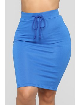 On Cloud Nine Skirt   Royal by Fashion Nova