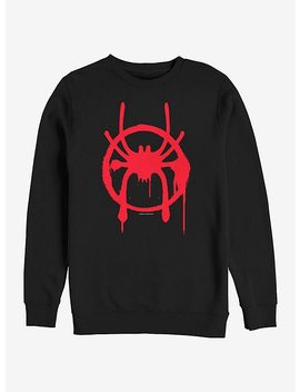 Marvel Spider Man Miles Symbol Sweatshirt by Hot Topic