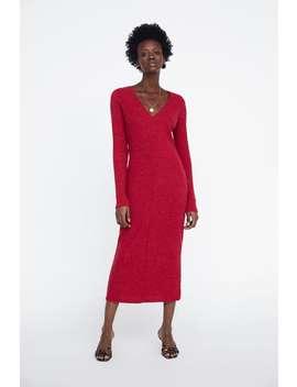 Vestido De Malha Canelada  Última Semanamulher New Collection by Zara