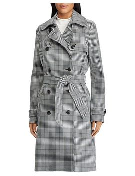 Glen Plaid Trench Coat by Lauren Ralph Lauren