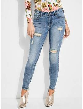 Distressed Sexy Curve Jeans by Guess