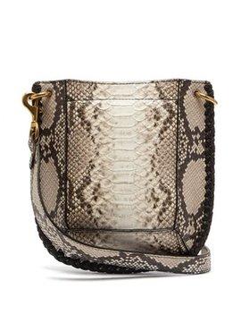 Nasko Python Effect Leather Cross Body Bag by Isabel Marant