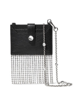 Madras Crystal Embellished Textured Leather Shoulder Bag by Miu Miu