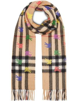 The Classic Check Cashmere Scarf In Ekd Print by Burberry