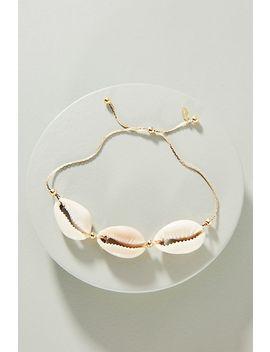 Shashi Caroline Shell 18 K Gold Bracelet by Shashi