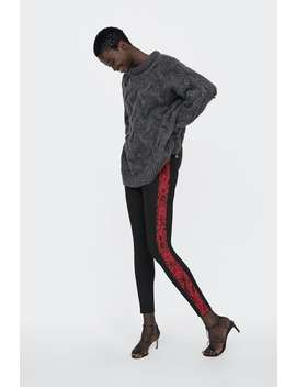 Animal Print Side Stripe Leggings  $12.99 Best Of Sale Woman Sale by Zara