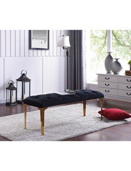 Meridian Furniture Inc Lucy Velvet Bench by Hayneedle