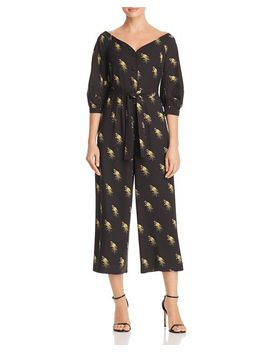 Off The Shoulder Woodpecker Jumpsuit   100 Percents Exclusive by Whistles