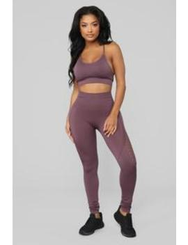 Finesse Seamless Matching Set   Soft Purple by Fashion Nova