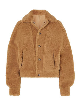 Reversible Leather Trimmed Suede And Shearling Jacket by ArjÉ