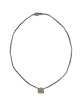 Green & Black Mirror Necklace by Lanvin