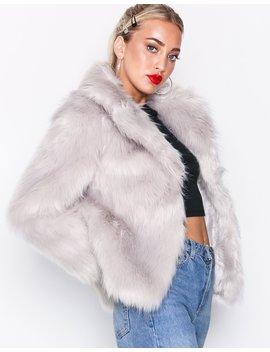 Faux Fur Coat by Topshop