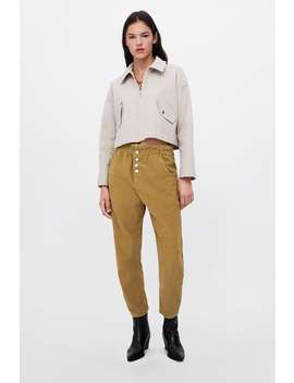 Cropped Textured Weave Jacket  Outerwearwoman Sale by Zara